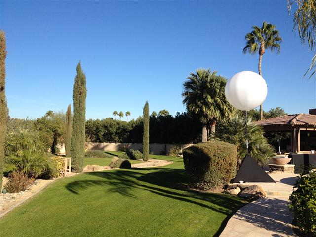 Moon balloon light rental for parties events outdoor festivals daytime image of large moon balloon light for rent in phoenix and scottsdale az mozeypictures Images